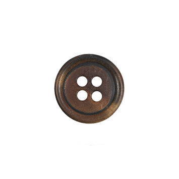 Amber Colored Horn 4-Hole Button 24L/15mm-323995-10