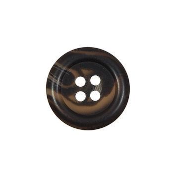 Dark Brown Flat Horn 4-Hole Button 30L/19mm-323997-10