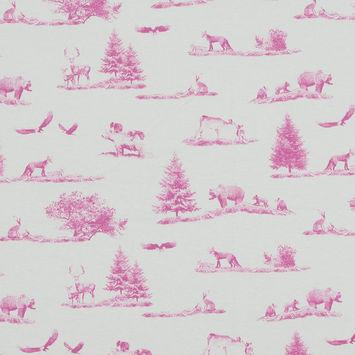 Pink and White American Safari Park Cotton Jersey-324091-10