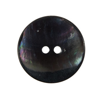 Iridescent Gray Concaved Mother of Pearl 2-Hole Button 30L/19MM-324242-10