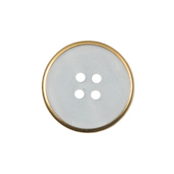 Italian Iridescent Gold Mother of Pearl Button 36L/23mm-324244-10