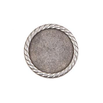 Silver Metal Shank Back Button 36L/23mm-324253-10