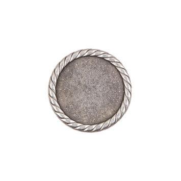 Silver Metal Shank Back Button 32L/20mm-324254-10