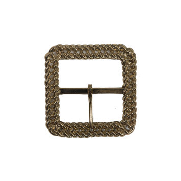 "Gold Chain Link Metal Buckle 2.625""-324407-10"