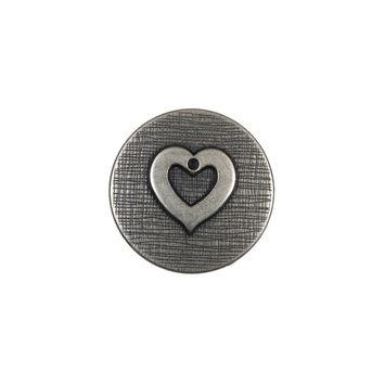 Silver Metal Heart Shank Back Button 28L/18mm-324528-10