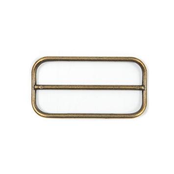 "Antique Gold Metal Buckle 3.25"" x 1.5""-324531-10"