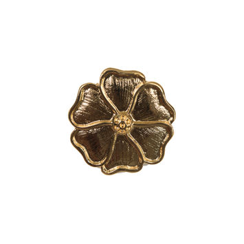 "Gold Metal Flower Buckle 2.25""-324549-10"