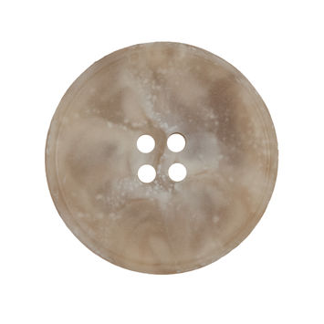 Beige Marbled Plastic 4-Hole Button 44L/28mm-324550-10