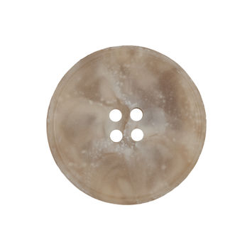 Beige Marbled Plastic 4-Hole Button 40L/25.5mm-324551-10