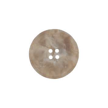 Beige Marbled Plastic 4-Hole Button 32L/20mm-324553-10