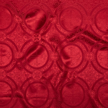 True Red Ecclesiastical Jacquard