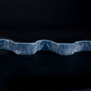 "Italian Blue Mirage Crushed Velvet Ribbon 0.875""-325090-10"