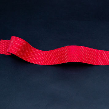 """Red and White Polka Dotted Ribbon 1.875""""-325330-10"""