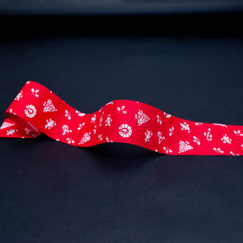 """Red and White Christmas Ribbon 1.875""""-325331-10"""