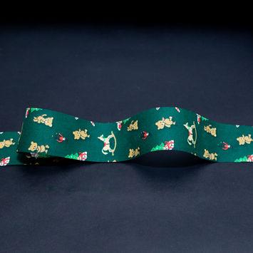 "Green Christmas Toys Ribbon 1.875""-325335-10"