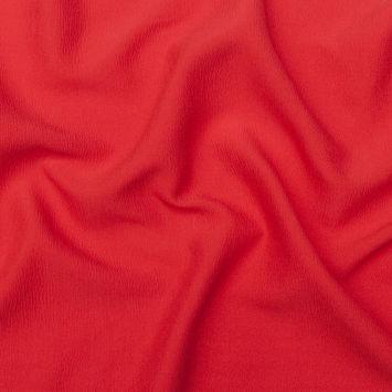 Oscar de la Renta Red Silk and Wool Wrinkled Plisse with a Twill Back-325457-10