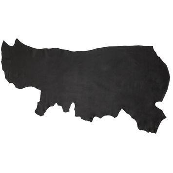 Small Black Biker Half Cow Leather Hide-325567-10