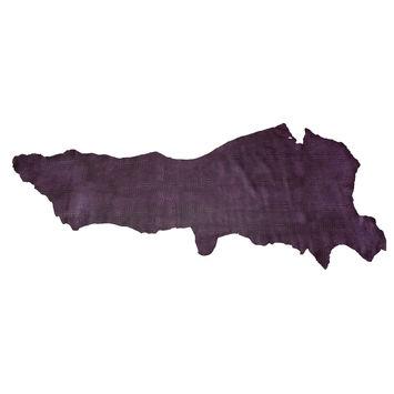 Large Purple Alligator Embossed Half Cow Leather Hide-325581-10