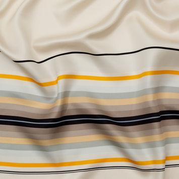 Rag and Bone Yellow, Beige and Gray Striped Silk Twill-325700-10