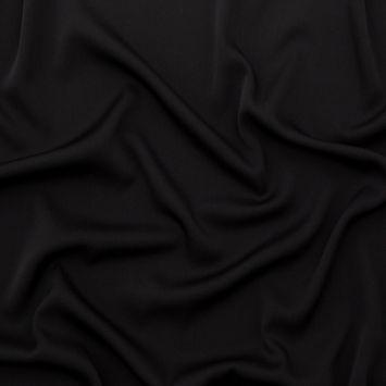 Black Stretch Silk Crepe-326013-10
