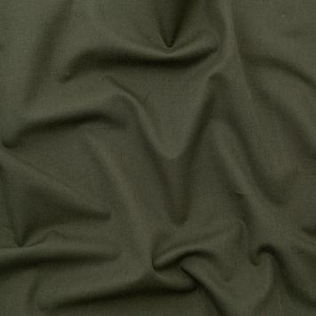 Italian Olive Stretch Cotton Twill-326301-10