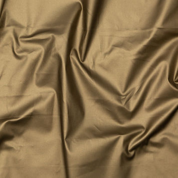 Italian Army Green Stretch Cotton Twill with a Metallic Antique Gold Laminate-326412-10