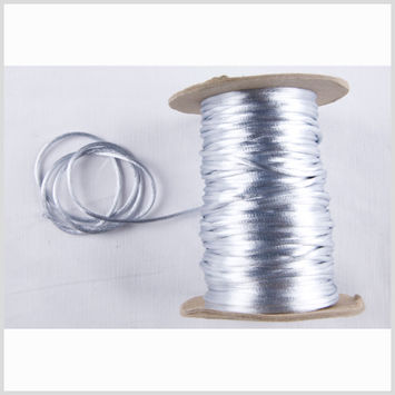 2mm Silver Rattail Cord