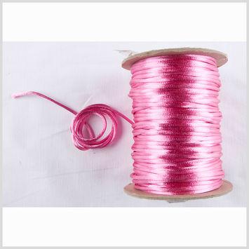2mm Shocking Pink Rattail Cord