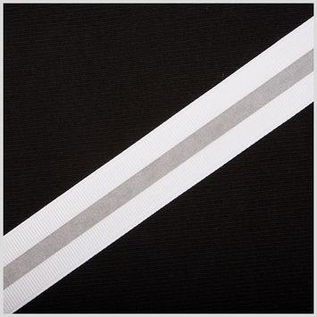 White Reflective Grosgrain Ribbon