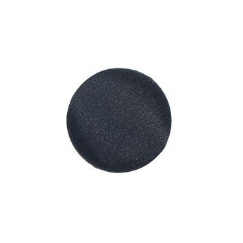 Black Silk Covered Button - 30L/19mm