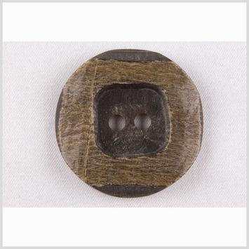Black/Natural Horn Coat Button - 44L/28mm
