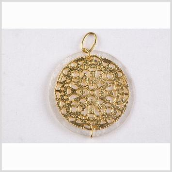 Natural Pearl/Gold Shell Pendant