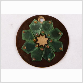 Brown/Gold Plastic Pendant