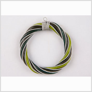 Olive/Green/Lime Rattan Pendant