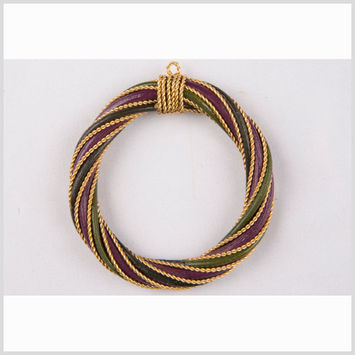 Purple/Olive/Light Olive Rattan Pendant