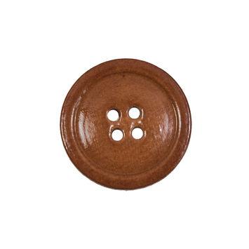 Natural Leather Blazer Button 36L/23mm-5448-10