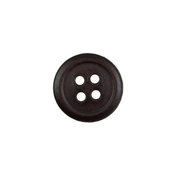 Antique Brown Leather 4-Hole Button 24L/15mm-5450-10
