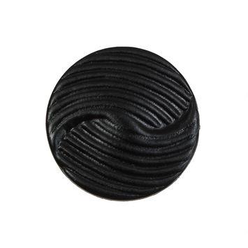 Black Embossed Leather Shank Back Button 40L/25mm-5461-10