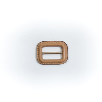 "Natural Leather Buckle 1.5"" x 1.125""-5482-10"