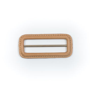 "Natural Leather Buckle 3"" x 1.375""-5485-10"