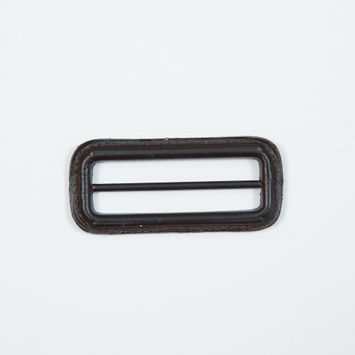 "Antique Brown Leather Buckle 3"" x 1.375""-5490-10"