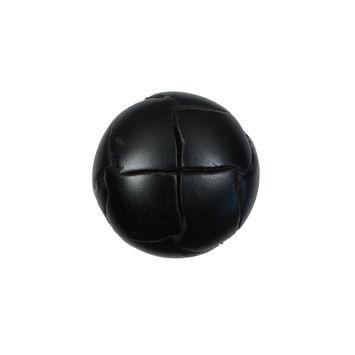 Black Leather Shank Back Button 32L/20mm-5573-10
