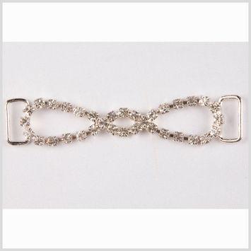 3 Crystal/Silver Rhinestone Ornament