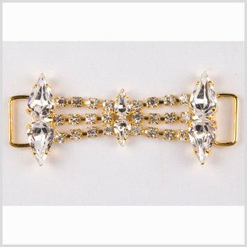 2.875 Crystal/Gold Rhinestone Ornament