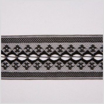 2 Black Raschel Lace