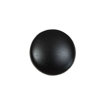 Black Leather Shank Back Button 30L/19mm-7433-10