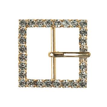 1.5 Gold/Crystal Swarovski Rhinestone Buckle
