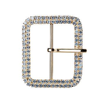 1.875 Gold/Crystal Swarovski Rhinestone Buckle
