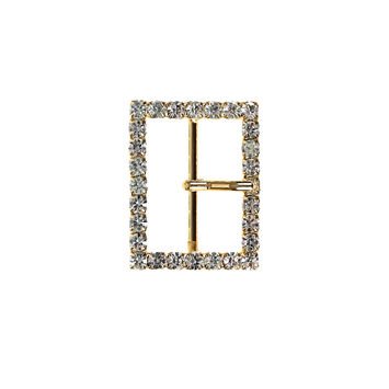 1.25 Gold/Crystal Swarovski Rhinestone Buckle