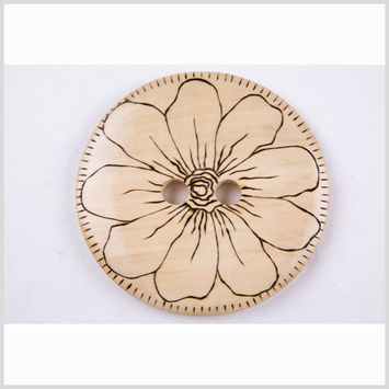 Natural Oversized Button - 160L/100mm